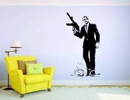James Bond Wall Mural Vinyl Decal Sticker Decor 007 Hero Movie England Spy Craig For Sale Online