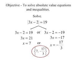 to solve absolute value equations and