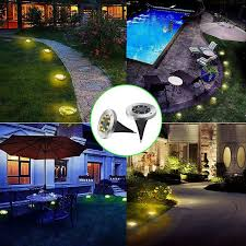 8 led solar ground lights outdoor