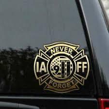 Iaff 9 11 Never Forget Firefighter Decal Sticker 911 New York Car Window Ebay