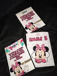 Invitaciones Cumpleanos Minnie Mouse 700 En Mercado Libre