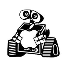 3 9 Apple Walle Vinyl Decal Sticker Car Window Laptop Macbook Disney Wall E Ebay