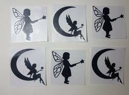 6 X Fairy Small Vinyl Decals Stickers For Wine Bottles Glasses Walls Crafts Fp Wall Decals Stickers Home Furniture Diy Cientificafest Cientifica Edu Pe