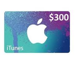 apple itunes gift card 300 usa