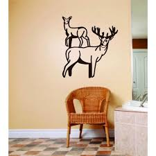 Do It Yourself Wall Decal Sticker Male Amp Female Deer Buck Animals Picture Graphic Art Room Home Decor S Decoration Ideas 18x18 Walmart Com Walmart Com
