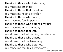 thank you quotes and poems appreciation quotes be yourself