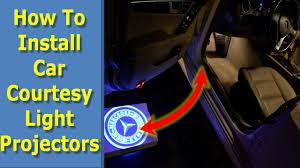 How To Install Led Logo Car Door Projector Lights Courtesy Light Youtube