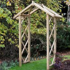forest rose wooden garden arch 9 6