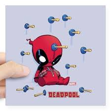 Cafepress Deadpool Toy Darts Square Sticker 3 X 3 Square Sticker 3 X 3 Walmart Com Walmart Com