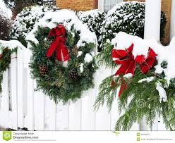 Christmas Wreath In Snow Stock Image Image Of White 36128679