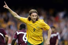 The spree begins... Josh Kennedy celebrates after netting the first against  Qatar. - ABC News (Australian Broadcasting Corporation)