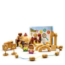 Bộ đồ chơi gỗ lắp ráp mô hình cao cấp cho bé