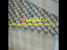 stainless steel fireplace mesh screen