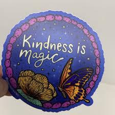 Vinyl Sticker Kindness Is Magic Shop Kind