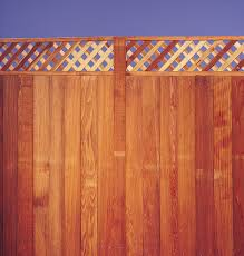 Wood Lattice Top Fence With Postmaster Steel Fence Post System Traditional Exterior Dallas By Master Halco Inc