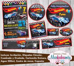 Invitacion Hotwheels Tipo Ticket Kit Imprimelo Tu 69 00 En