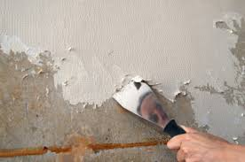 removing painted wallpaper the