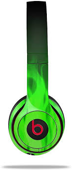 Amazon Com Wraptorskinz Skin Decal Wrap For Beats Solo 2 And Solo 3 Wireless Headphones Fire Green Beats Not Included Home Audio Theater