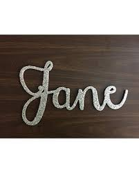 Phenomenal Deals On Custom Name Cursive Letter Sign 8 12 Tall Baby Name Wall Art Nursery Wall Art Dorm Room Wall Art Painted Unpainted Glitter Name Art Janda Stylish Script Font Wood Letter