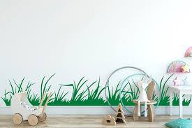 Grass Wall Decal Blades Of Grass Grass Border Decal Etsy In 2020 Wall Decals Interior Wall Decor Wall Decals For Bedroom