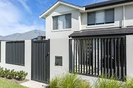Aluminium Slat Fencing Aluminium Slat Gates R R Fencing Perth