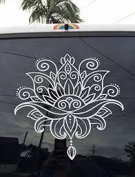 Schone Lotus Blume Henna Paisley Floral Boho Vinyl Aufkleber Flower Henna Lotus Flower Henna Henna Flower Designs