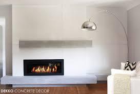 custom lightweight concrete mantel