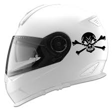 Skull And Crossbones Auto Car Racing Motorcycle Helmet Decal