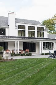 black and white modern farmhouse home