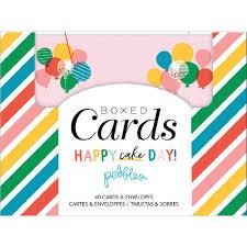 Tarjetas Y Sobres Happy Cake Day De Pebbles Tienda Scrapbook Y