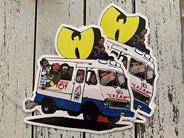 Amazon Com 2 Of The Wu Tang Ice Cream Truck Car Window Laptop Vinyl Decal Stickers Handmade