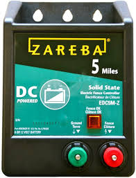 Amazon Com Zareba Edc5m Z 5 Mile Battery Operated Solid State Electric Fence Charger Agricultural Livestock Electric Fence Chargers Garden Outdoor