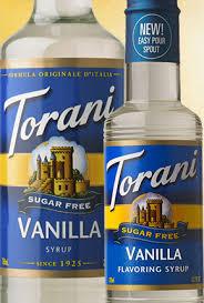 torani sugar free vanilla syrup
