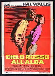 MANIFESTO CIELO ROSSO ALL'ALBA BURNS DESI ARNAZ CRENNA BLOOM COLIC M67
