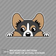 Auto Parts And Vehicles Tricolor Pembroke Welsh Corgi Sticker Decal Vinyl Car Van Bumper Laptop Decor Car Truck Graphics Decals