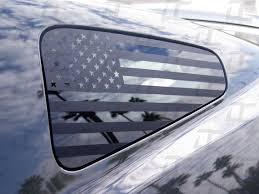 Mustang American Flag Rear Quarter Window Accent Decal Etsy