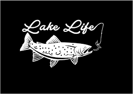 Lake Life Decal Trout Decal Fishing Decal Vinyl Decal Car Etsy