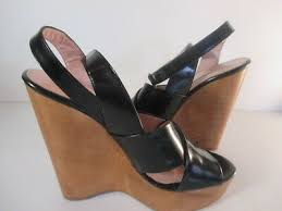 criss cross ankle strap high wedge