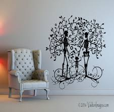 Skeleton Family Wall Decal Tree Wall Decal Living Room Wall Decal Tree Of Life Wall Decal Gothic Wall Decal Family Wall Decals Tree Wall Decal Family Wall