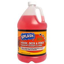 Splash House Deck Fence Wash Pressure Washer Soap For Washable Wood Surfaces