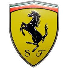 Amazon Com Erpart Ferrari Real Aluminum Rare Car Logo Badge Emblem Not Thick Abs Plastic Automotive