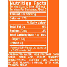 sunkist orange soda 33 8 fl oz