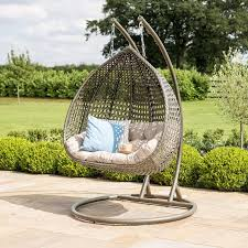 rose hanging garden chair natural