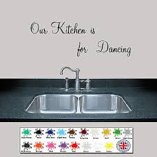 Kitchen Wall Sticker Our Kitchen Is For Dancing Wall Art Ebay