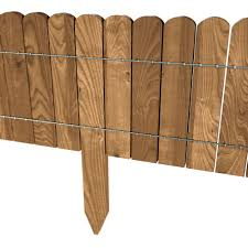Floranica Spiked Log Roll Border As Easy Plug In Fence Palisade 203 Cm Long Can Be Shortened As Wooden Edging For Flower Beds Lawns Paths Impregnated Floranica Webshop