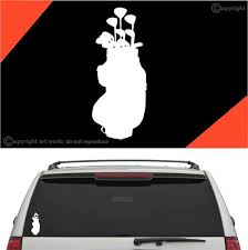 Golf Bag Golf Decal Car Sticker Topchoicedecals