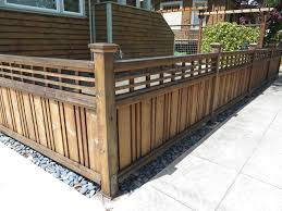Another Low Fence Option While This Is Not My Favorite I Was Drawn To It Because Of The Detail And Again Openness Modern Fence Backyard Fences Fence Design
