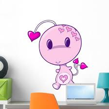 Pink Little Love Bug Wall Decal Wallmonkeys Com
