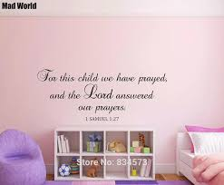 1 Samuel 1 27 For This Child We Have Prayed Wall Art Stickers Wall Decals Home Diy Decoration Removable Room Decor Wall Stickers Wall Stickers Aliexpress