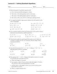 9 2 skills practice solving quadratic